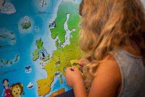 mapa Evropy pro děti